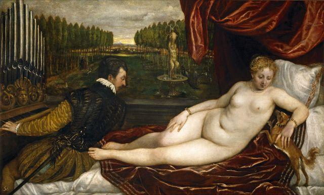 inv_6 Venus recreandose musica, Tiziano, 1550
