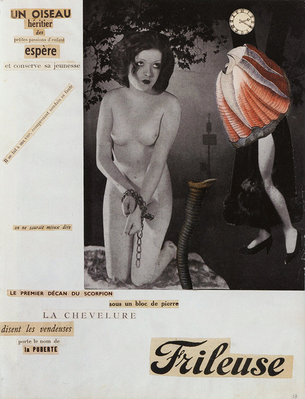 inv 10 Frileuse, Georges Hugnet, 1934-1936