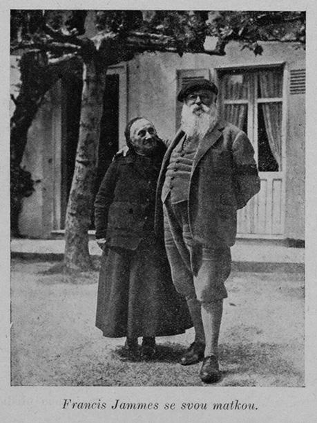 Francis Jammes con su madre, anónimo,anterior a 1930 (?)