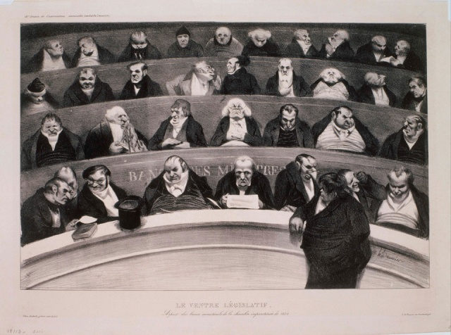 inv 13 Honoré_Daumier_-_Le_Ventre_Legislatif 1834